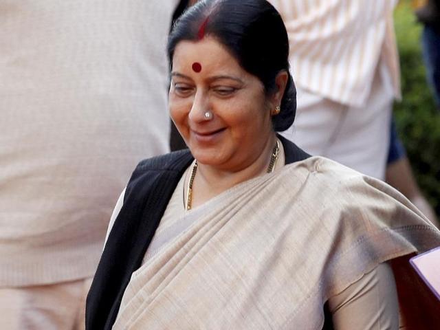 File photo of external affairs minister Sushma Swaraj.