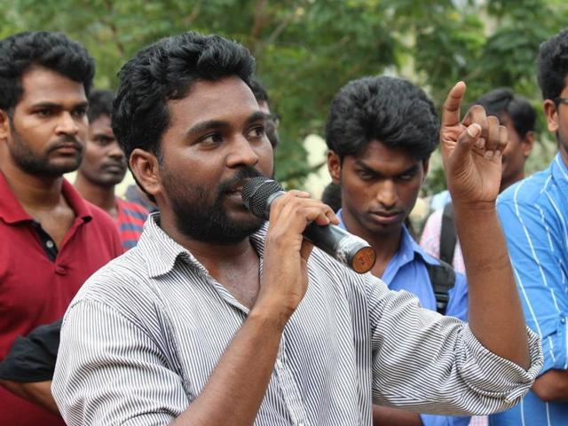 V Rohith, who was found hanging in central university hostel in Hyderabad.
