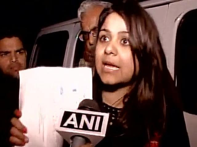 Bhavna Arora who threw ink at Arvind Kejriwal on Sunday during the Delhi odd-even rule 'success' address.