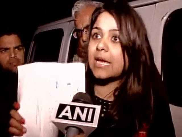 Bhavna Arora who threw ink at Arvind Kejriwal on Sunday during the Delhi odd-even rule 'success' address.