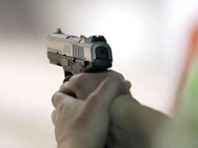 Two unidentified motor-cycle borne miscreants allegedly opened fire at Shaheedi Park, Kidwai Nagar, at 6.32 am.(HT Representative Photo)