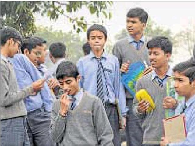 A survey conducted by the Delhi government found that Class 9 students had lower-than-expected learning levels.