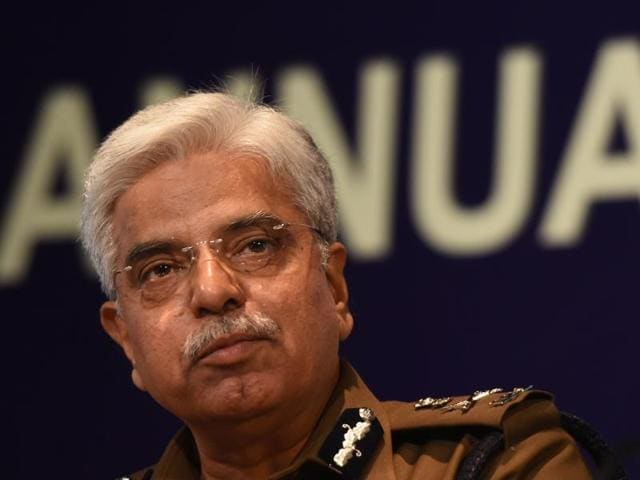 Delhi Police commissioner BS Bassi during an annual Press Conference, in New Delhi.