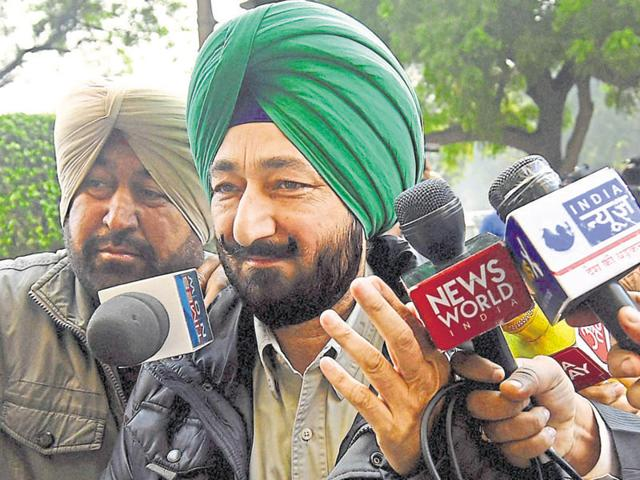 Gurdaspur SP Salwinder Singh outside Delhi court for questioning by NIA on Tuesday.
