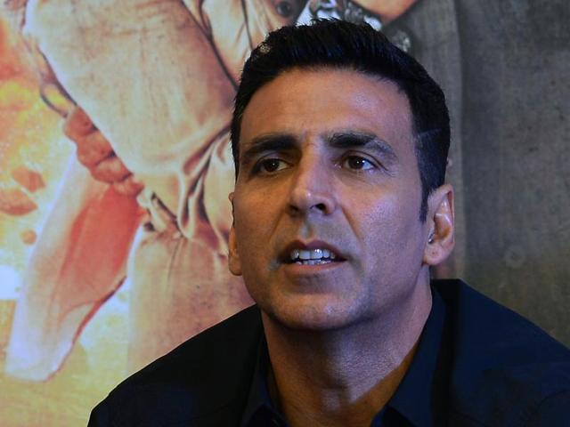Akshay Kumar at a press conference to promote Airlift in New Delhi on January 18.