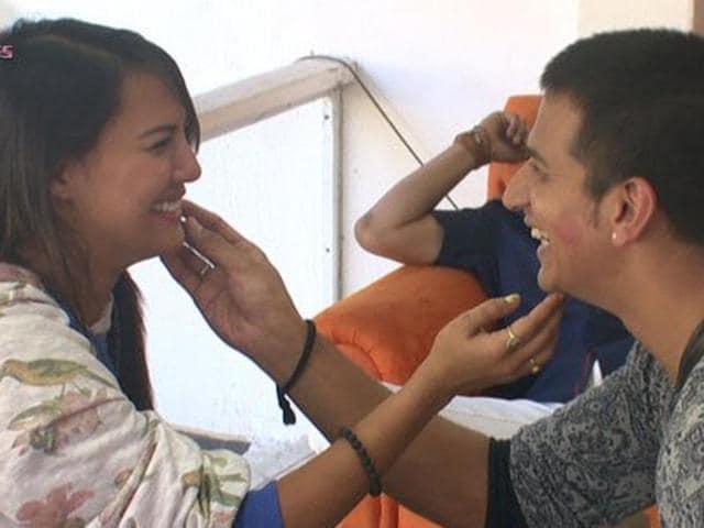Rochelle kisses Prince on his cheek!