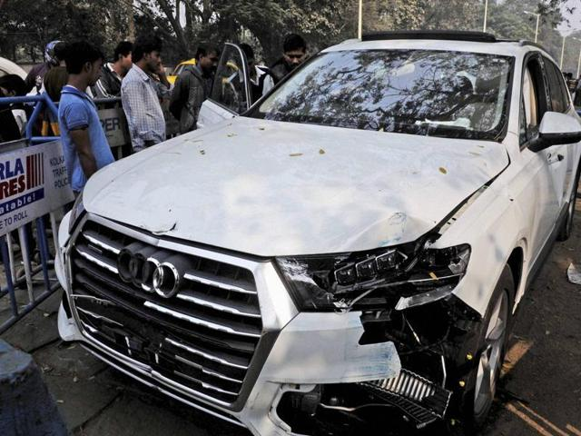 The Audi car that broke three barricades before entering into Red Road and killing an Air Force airman who was participating in a rehearsal for the upcoming Republic Day on Wednesday.