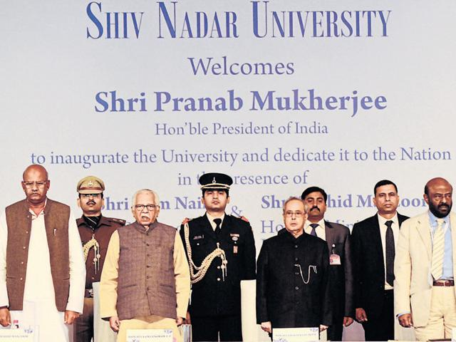 Pranab Mukherjee,Shiv Nadar University,Going to School