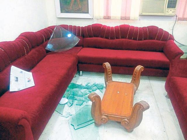 The acting principal of Kirorimal College on Tuesday said that the vice president of DUSU, along with some ABVP activists, vandalised his office.