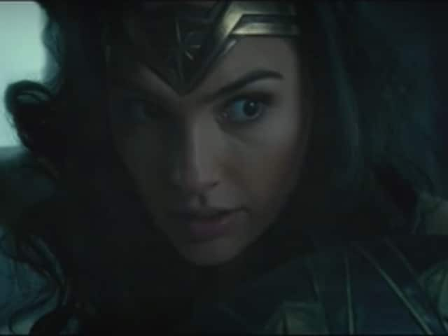 Here's our first look at Wonder Woman, one of DC's trinity in action.