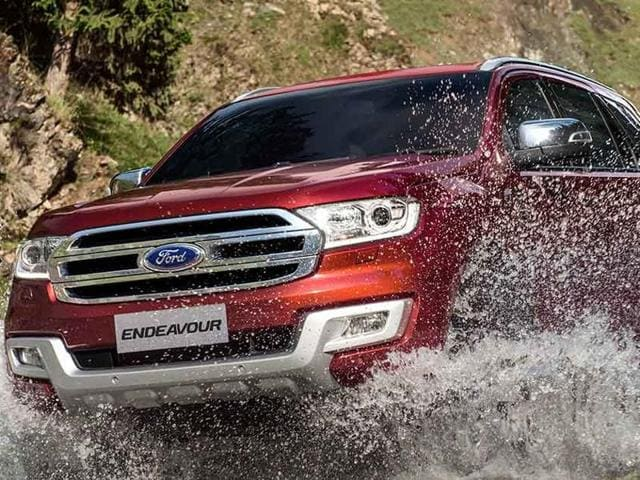 The new Ford Endeavour looks rugged, stylish and roaring thanks to the octagonal chrome face.