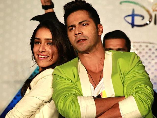 Varun Dhawan and Shraddha Kapoor during the trailer launch of ABCD 2 in Mumbai. (AP)