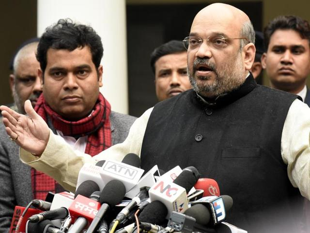 BJP President Amit Shah has been given a clean chit by the UP Police in a case of hate speech in Muzaffarnagar district in April 2014 during Lok Sabha elections
