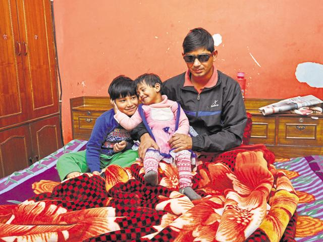 Naik Rajesh Negi's family said his vision has been impaired vision after a splinter pierced his left eye during the operation. Doctors treating him are hopeful of a recovery.