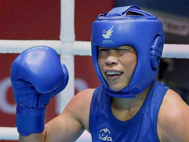 Mary Kom, on the other hand, made mincemeat of Soniya in her bout on January 20 to make it to the next round.(PTI Photo)