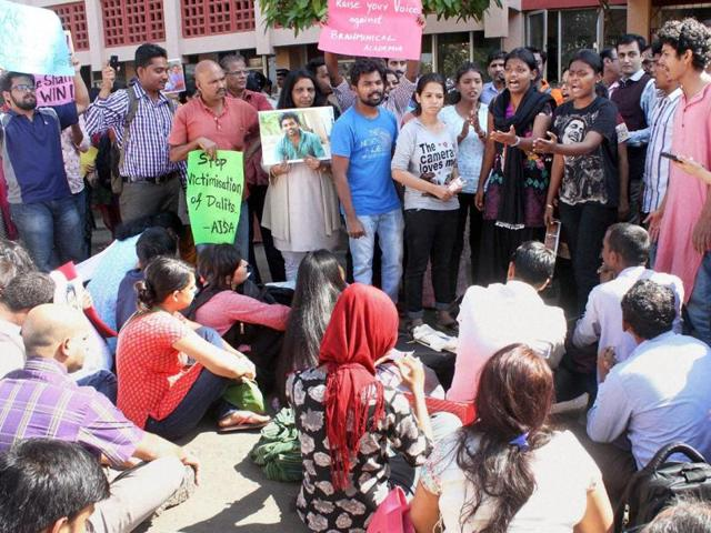 Party leaders are concerned that the nationwide outrage over the suicide as well as the decision of poet Ashok Vajpeyi to return his D Lit degree from Hyderabad University – the same institution that suspended Vemula – may have a serious bearing on its electoral plans.