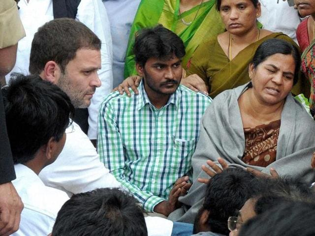 Hyderabad Dalit student suicide,Rohith Vemula suicide,Rohith Vemula's mother