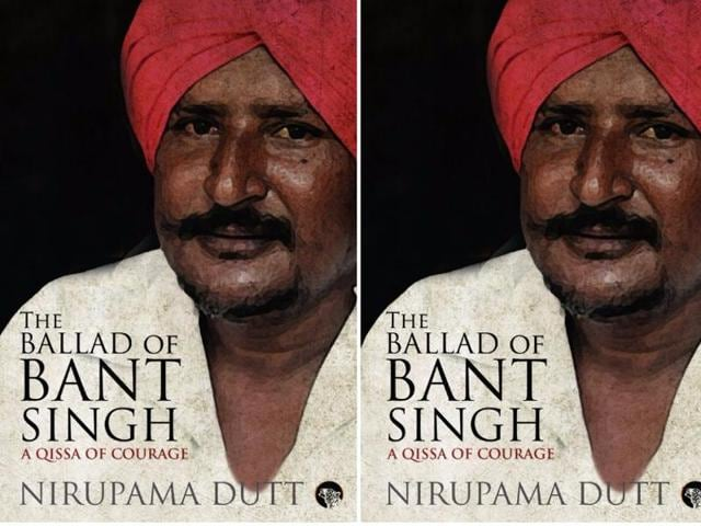 Nirupama Dutt, who released her book on Singh's life titled The Ballad of Bant Singh: A Qissa of Courage at the Jaipur Lit Fest, seen here with Punjab's Dalit leader Bant Singh.
