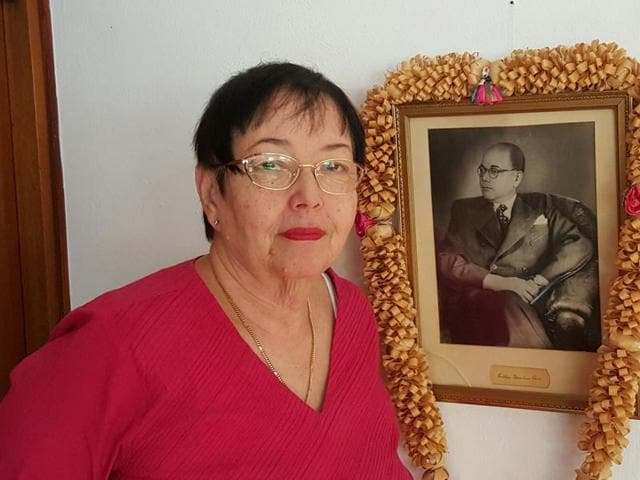 Anita Bose Pfaff, 73, was about a month old when Bose saw her for the last time in Vienna.(Prasun Sonwalkar/HT)