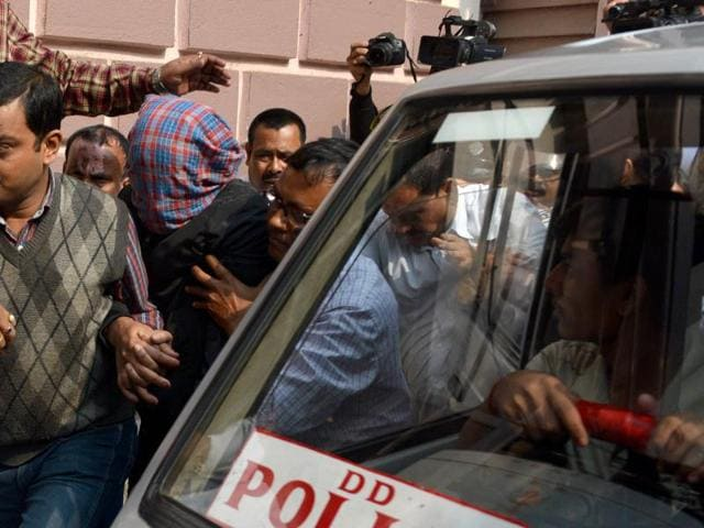 The Audi car that broke three barricades before entering into Red Road and killing an Air Force airman who was participating in a rehearsal for the upcoming Republic Day. The police issued an arrest warrant against TMC leader Mohammad Sohrab, father of the prime accused in the hit-and-run case.