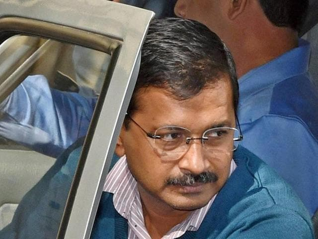 Kejriwal met students at the campus of the University of Hyderabad which has turned into the nerve-centre of protests against alleged anti-Dalit policies of the NDA government following the suicide by research scholar Rohith Vemula