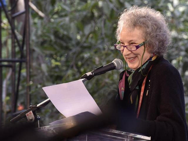 Margaret Atwood delivers the keynote address at the inauguration of Jaipur Literature Festival 2016 on Thursday, January 21, 2016.