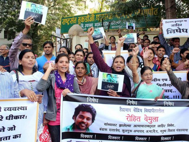 Rohith Vemula suicide,Dalit student suicide,University of Hyderabad