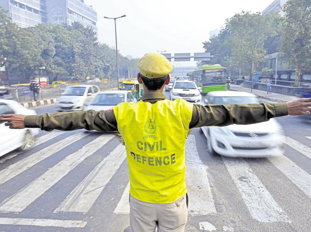 Over 5,000 civil defence volunteers who helped the traffic police in implementing the odd-even restrictions would be paid Rs 3 crore.