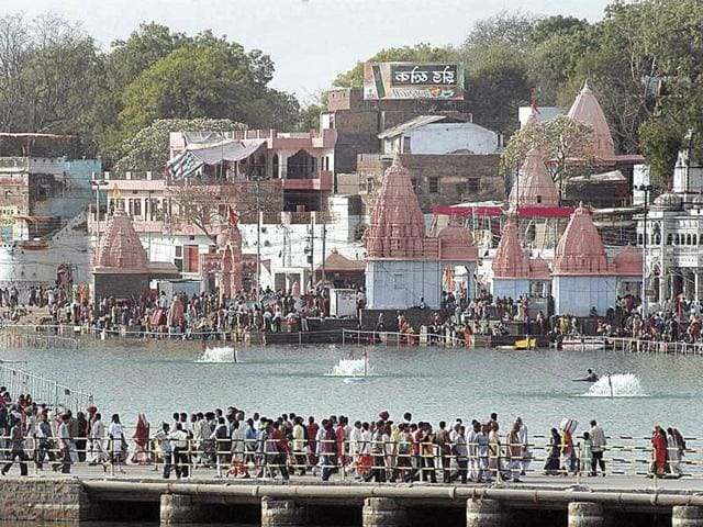Ujjain's power consumption at present daily is around 75 mw in peak situation and it could cross 200 mw during Simhastha.(HT File Photo)