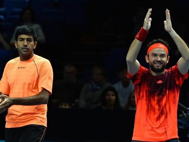 India's Rohan Bopanna (L) and Romania's Florin Mergea entered the second round of the Australian Open on January 21 by beating Australia's Nick Kyrgios and Omar Jasika.