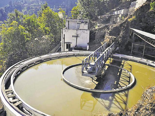 File photo of the sewerage treatment plant at Malyana. Since the treatment plants were not working properly, it contaminated Ashwani Khad, which is the water source for drinking water for Shimla.