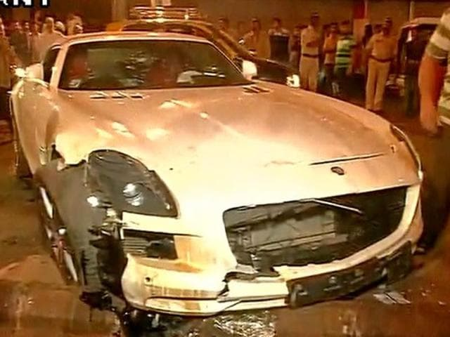Five people were injured after being run over by a car in Mumbai?s Mohammad Ali road last night at around 12:45 am.