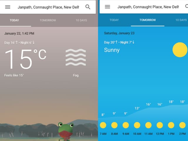 New updated weather cards now offer  new features along an overhauled design and revamped interface.