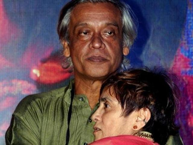 Sudhir Mishra and Chitrangada Singh during the promotions for Inkaar.