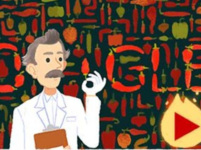 The doodle is celebrating Scoville's 151st birthday with a fun and interactive game.
