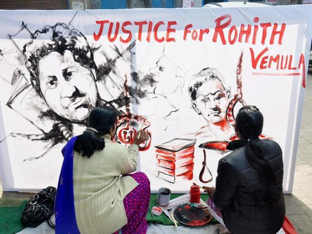 The university administration on Friday announced an ex-gratia of Rs eight lakh for Rohit Vemula's family.