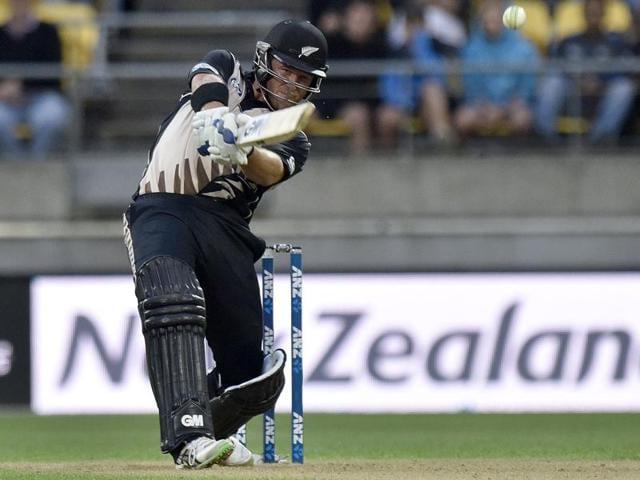 New Zealand celebrate winning the series against Pakistan at Westpac Stadium in Wellington.