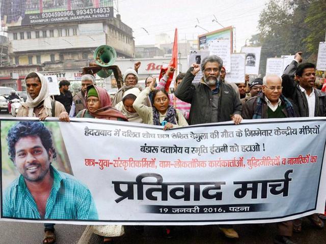 Rohith Vemula,University of Hyderabad,Dalit scholar's suicide