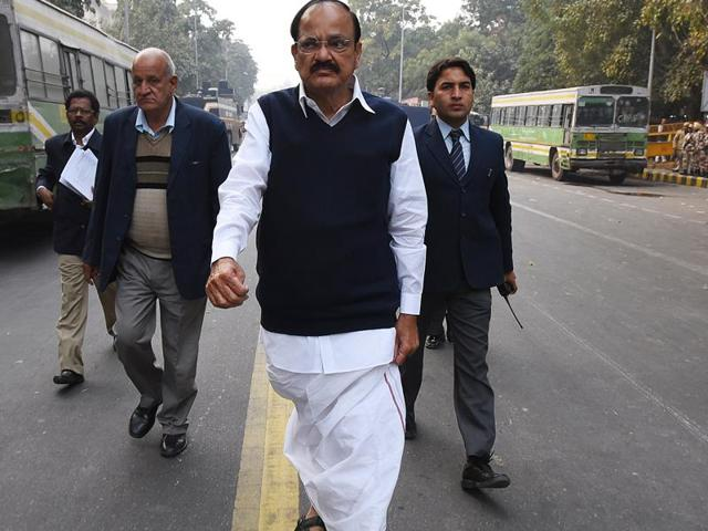 Union Minister M Venkaiah Naidu  on Thursday accused the politicians visiting Hyderabad University after suicide by a Dalit research scholar of vitiating the atmosphere by making political speeches.