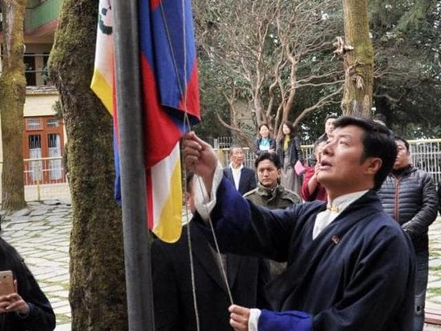 Tibetan Prime Minister-in-exile Lobsang Sangay.
