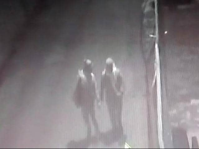 The images of the suspects has been captured  on a camera.