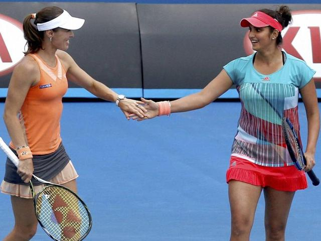 Sania paired with Croatian partner Ivan Dodig  had a straight sets victory, beating local pair of Ajla Tomljanovic and Nick Kyrgios 7-5, 6-1 in 59 minutes.