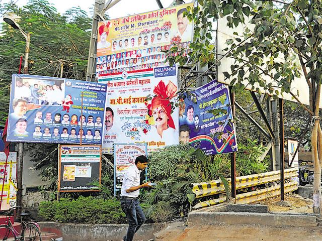 BMC cracks down on illegal posters in Mumbai | mumbai