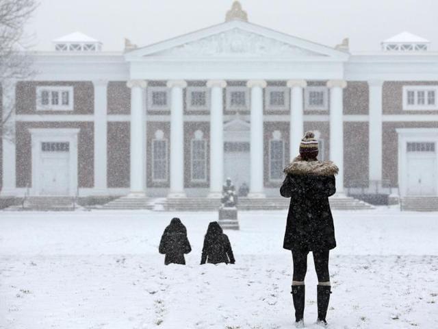 Snowstorm in US