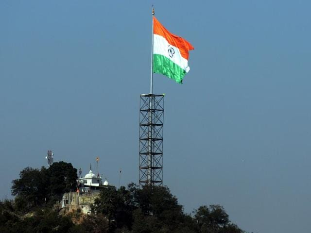Ahead of the Republic Day, the tallest and largest Indian national flag was hoisted in Ranchi on Saturday.