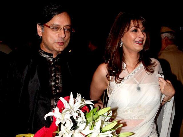 File photo of Congress leader Shashi Tharoor and Sunanda Pushkar.