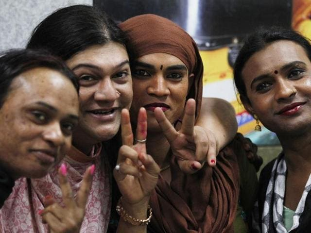 Members of the transgender community celebrate after the Supreme Court recognised transgender as the third gender in 2014. Odisha has now become the first state in the country to give social welfare benefits to the community.