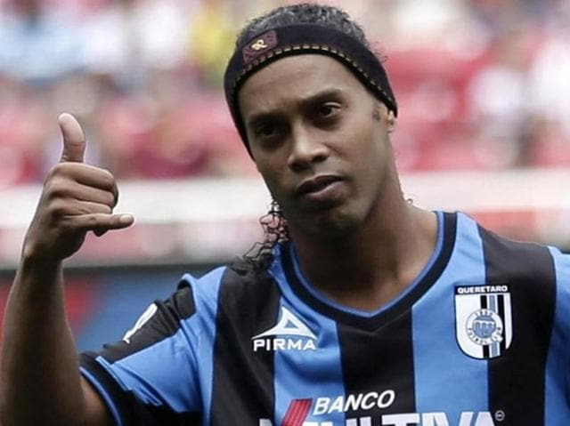 Ronaldinho arrived in Kerala after being named as the brand ambassador of the Sait Nagjee Football Tournament.