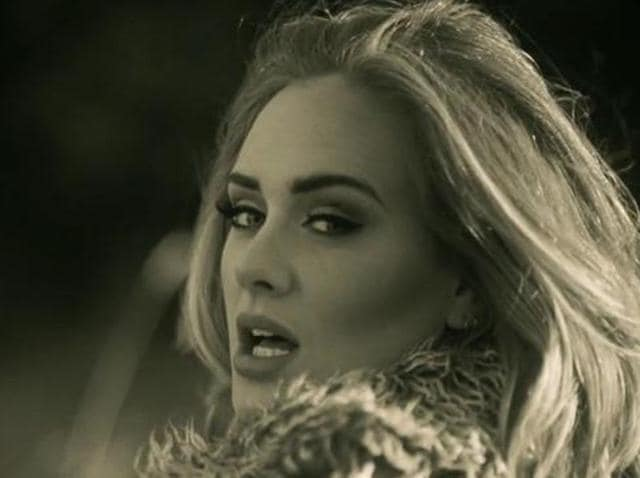 Adele in a still from Hello.