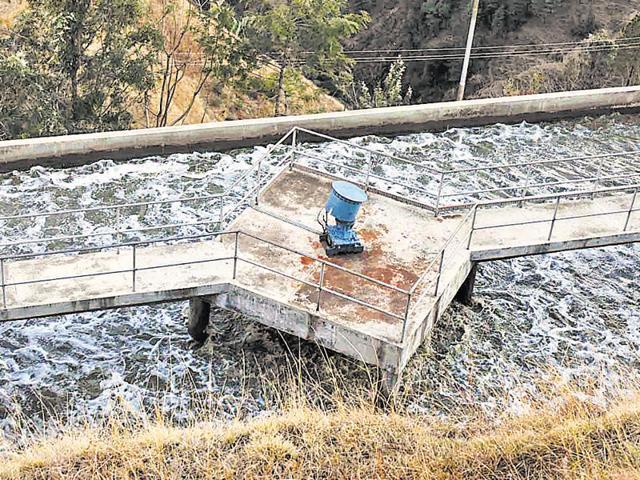 The sewerage treatment plant at Malyana, Himachal Pradesh.